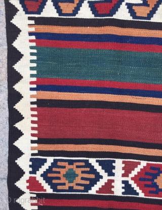 Shahsevan kilim size 11'10x4'8 ft