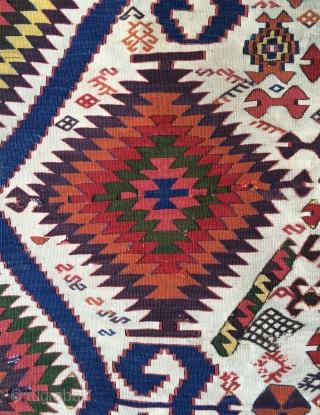 Middle anatolia Aksaray kilim size 330x84cmm