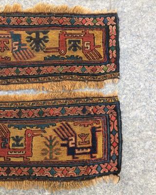 4 pieces joined shahsavan sumak panels.size 200x18cm