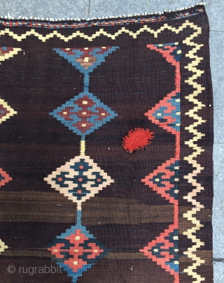 Persian kilim all are colors natural dyes size 300x168cm