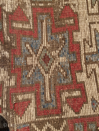 Anatolian Kurdish fragmand carpet size 105x88cm