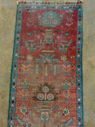 Heriz runner fragmand carpet size 320x60cm