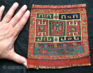 Rare small Shahsavan bag face size 18x18cm