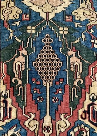 West Anatolian bergam 1920 century size 225x165cm