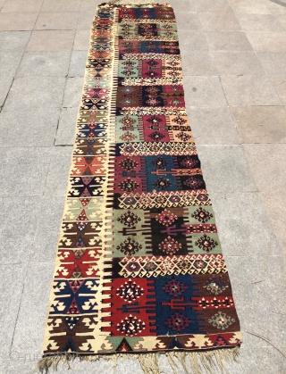 Anatolian kilim size 350x82cm
