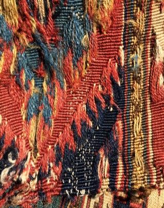 Shahsavan hamamlu weft  silk  size 32x49cm