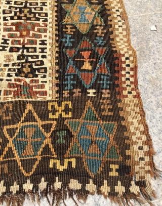 Anatolian prayer Kilim size 355x145cm