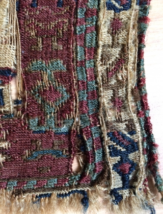 Shahsavan hamamlu bag very fine quality and very  old weft silk size 24x45cm