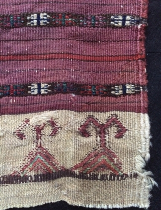When I first saw it, I thought I was a Turkmen yamud bag face.  But I have reviewed over and over again, I decided it was a Beluch, Because  all wool  ...