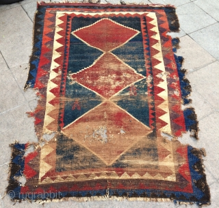 Persian very old gabbah size 200x144cm