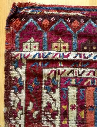 Anatolian Kurdish fragmand rug size 100x56cm