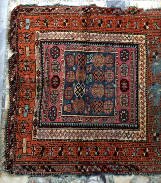 Anatolian Kurdish rug all are colors natural dyes size 220x123cm