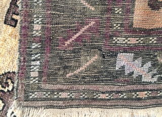 Beluch prayer rug,This rug was made in the 1950s or 1960s 