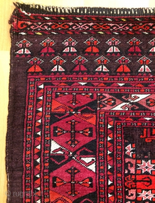Turkmen chuval silk wool and cotton. Size 2'9''- 5'4'' ft.