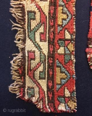 Shahsavan sumak fragments big piece size 42x6cm small piece size 30x4cm