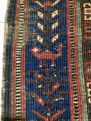 Rare Qhasgai fragmad carpet size 100x165cm