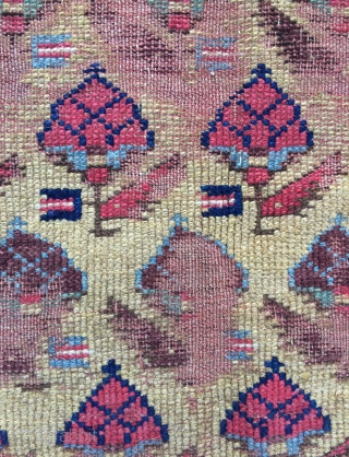 Shahsevan Fragmant rug around 1840 century size 77x97cm