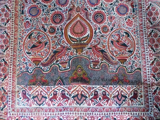 Palampore printed and painted on Cotton  1825/1850