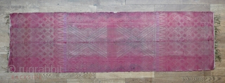 """very old ceremonial shoulder cloth - 19th century - silk, gold thread, silver thread, gold gimp, supplementary weft weave - Minangkabau people, Sumatra, Indonesia - 59"""" x 18"""" - 150 x 46 cm - look to a  ..."""