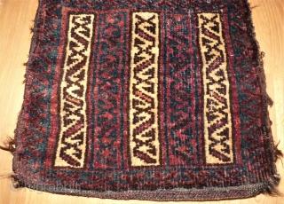 antique Baluch bag. Size: 34 x 33 cm.