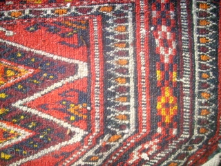 Antique Tekke Turkmen piece. Size: 24 x 36 cm.