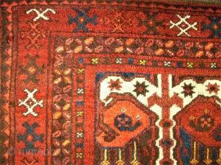 very interesting Ersari rug. Size: 124 x 202 cm. Very good condition. Beshir design.