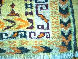 Antique South-Persia bagface. Size: 28 x 40 cm. Good condition. Interesting item.