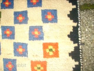 old anatolian Tüllü rug. Size: 144 x 180 cm. Some thin pile.  Used.