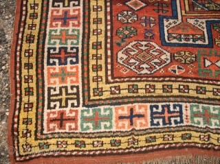 antique Kordi Quan rug. Size: 160 x 310 cm. Some used pile. Great colors. a wonderful piece.