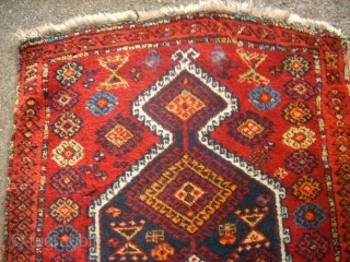 Very old Sivas Kürd Prayer rug. Size: 84 x 155 cm. One damage. Nice colors and  a special wool. Fine knotting.