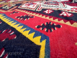 Exceptional Pirot sarkoy kilim, over 100 years old,  natural colors. Dimension approx. 1.5x2m.