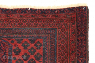 Antique baluch prayer rug. Older piece with top color. Good presence. The way these keep showing up, you might think they are common but you would be wrong. 3rd qtr 19th c.  ...