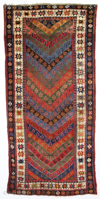 Antique Kurdish Rug In Good Condition With A Bold Design