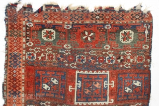 Antique east anatolian divan. Classic holbein type design with an unusually light all natural palette. Pile varies from good thick pile to low and none. Scattered bits of damage and no repairs.  ...