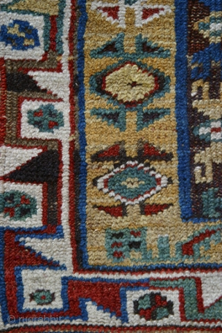 Single panel Makri (Megri)  prayer rug,( W/W,136x97 cm.), an early 19th century, classical and beautiful example. Slight damage at selvages and in the upper flower  two small spots where the  ...