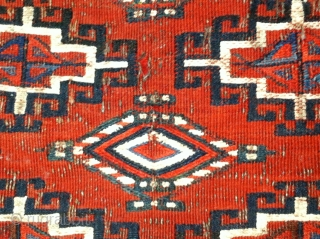 Antique Turkomen Yomut chuval soumak weave last quarter 19th century.