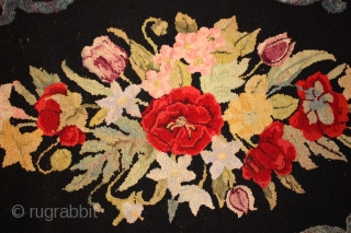 Antique American Hooked rug size  4'-4'' x2'-8''
