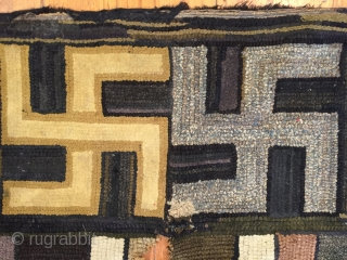 American hooked rug remarkably fine quality.