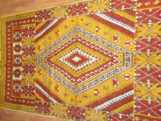 A superb Moroccan High Atlas Ait Ouaouzguite rug with a magnificent design concept size 5 x 8.
