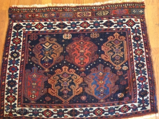 A beautifully executed 19th Century Afshar bag face 2-10 x 2-3.