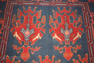 Antique Caucasian Avar  kilim late 19 th century mint condition