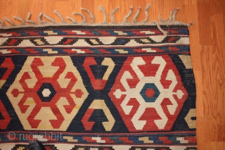 Antique Caucasian Shirvan Kilim late 19th century .