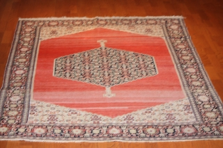 Antique  West Persian Senneh 6'-7''x 5' 2''