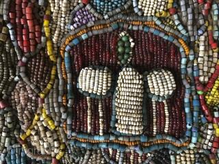 Antique Beaded Yoruba Shango Priest Ceremonial Tunic Masterpiece. More details here: https://wovensouls.com/products/1239-antique-beaded-yoruba-tunic-africa-textile-costume