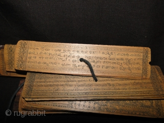 Of Interest to Textile Collectors: Old Manuscript about epic travel legend from India to Java Sumatra 'Boita Bandana'  More details: https://wovensouls.com/products/559-indian-manuscript-sanskrit-palm-leaf-boeeta-bandaan-important-for-textile-lovers