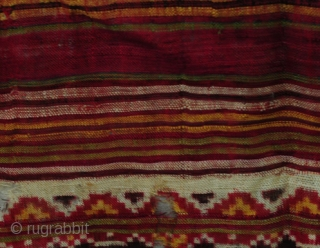 Antique Patan Patola Sari Fragment (quarter sari) pre 1900
