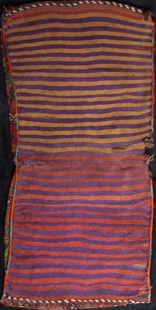 19th c. complete Malatya dowry heybe from Sinan, one of the tribal villages now under the Karajaya dam. This particular finely woven design with sideways, Kurdish style interlocking figures in the borders  ...