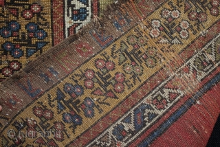 A 19th century (mid?) central Anatolian Muçur or Mujur prayer rug. A nice grass green above the mirhab prayer niche. In worn condition with loss to ends and foundation showing as seen  ...