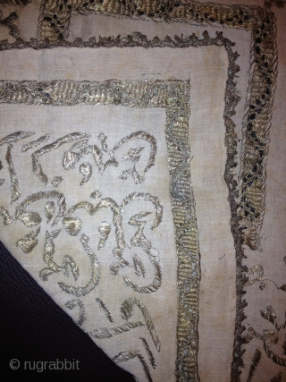 islamik prayer cushion silver embroidery mid 19 or before mint