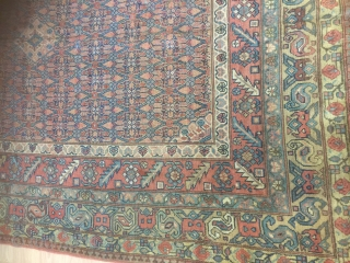 Antique Sarab circa 1880 wool on wool good condition 